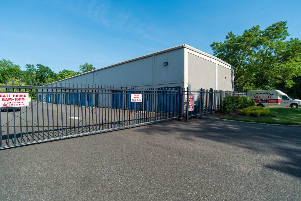 Shrewsbury location's main gate to access outdoor storage units