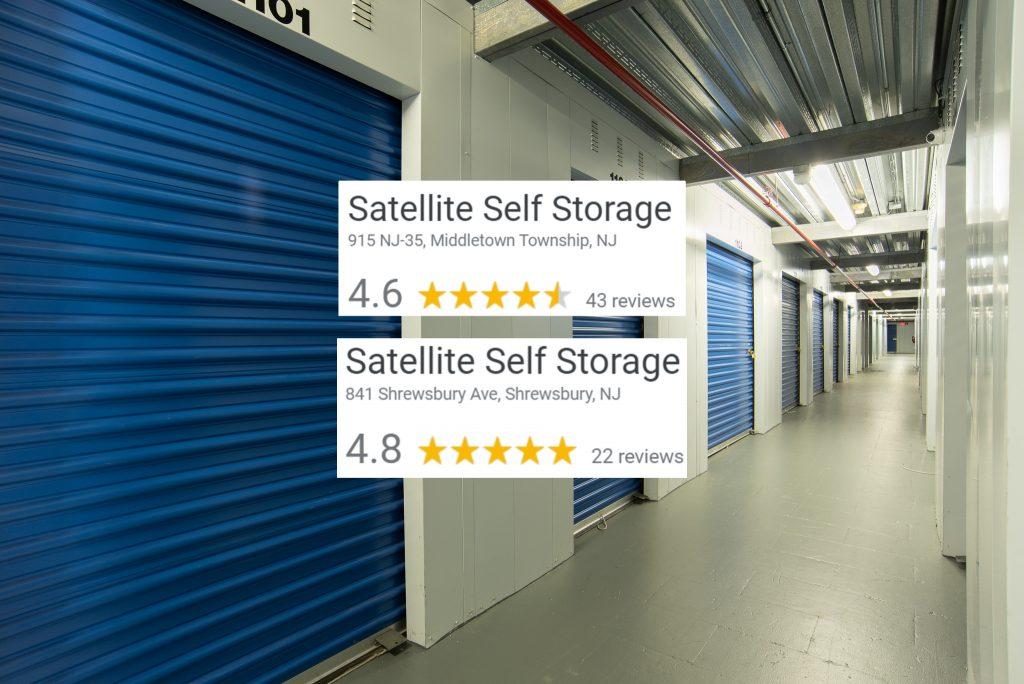 Satellite Self Storage Google Ratings